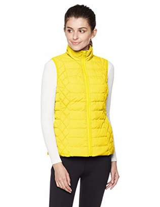 Otterline Women's Nylon Taffeta Regular-fit Full Front Zip LTWT Polyfill Vest M