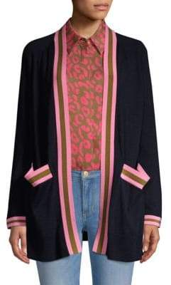 Escada Sport Open-Front Wool Cardigan