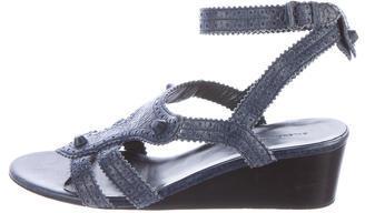 Balenciaga Balenciaga Leather Wedge Sandals