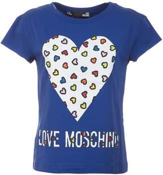 Love Moschino Heart Print T-shirt
