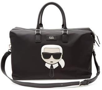 Karl Lagerfeld K/Ikonik Weekender with Leather