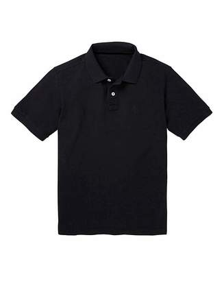 Jacamo Capsule Black Short Sleeve Polo XL