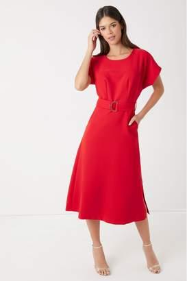 Closet Womens Kimono A line Dress - Red
