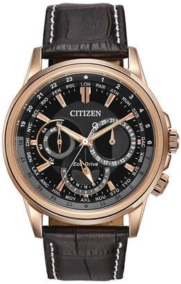 Citizen (シチズン) - Citizen Men's Eco-Drive Calendrier Brown Leather Strap Watch 44mm BU2023-04E