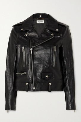 Saint Laurent Perfecto Leather Biker Jacket - Black