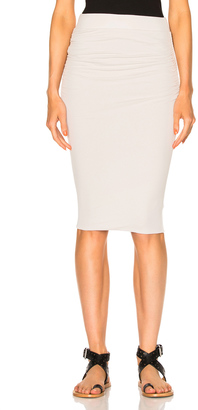 James Perse Double Shirring Skirt $165 thestylecure.com