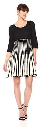 French Connection Women's Sunrise Tellin Vertical Stripe Long Sleeve Dress