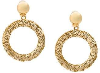 Oscar de la Renta sequin circle earrings