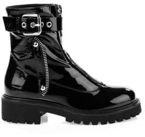 Giuseppe Zanotti Patent Leather Combat Boots