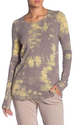 ATM Anthony Thomas Melillo Tie Dye Distressed Long Sleeve Top