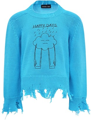 Riccardo Comi Light Blue happy Day Sweater
