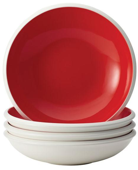 Rachael Ray 4-pc. Rise Soup and Pasta Bowl Set, Red