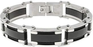 FINE JEWELRY Mens Two-Tone Stainless Steel Chain Bracelet