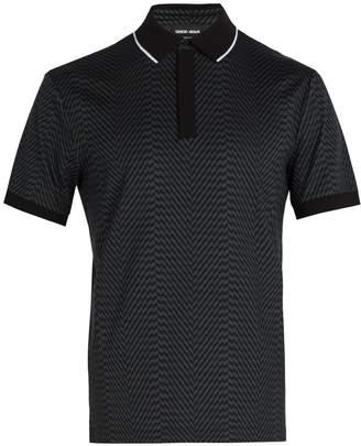 Giorgio Armani Zigzag-print polo shirt