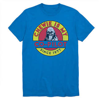 Novelty T-Shirts Chewie Is My Co-Pilot Graphic Tee