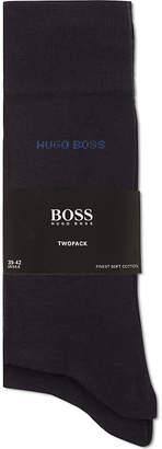 HUGO BOSS Pack of two plain socks