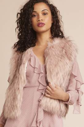 BB Dakota Mauve Fur Vest