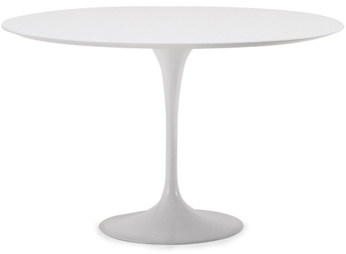 Knoll saarinen dining table - white laminate