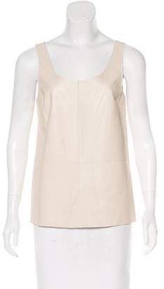 By Malene Birger Sleeveless Leather Top