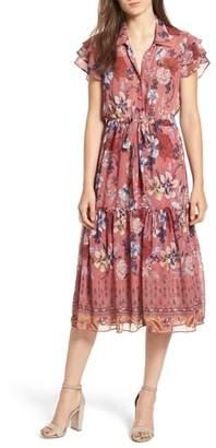 MISA LOS ANGELES Violette Floral Ruffle Sleeve Dress