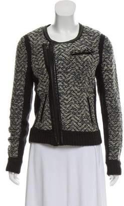 Rag & Bone Leather-Trimmed Wool Jacket