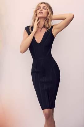 Lipsy Abbey Clancy x Sweetheart Bandage Dress - 6 - Black
