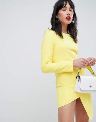 Unique21 Unique 21 Long Sleeve Asymetric Dress