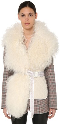 Off-White Off White QUILTED WAISTCOAT W/ SHEARLING