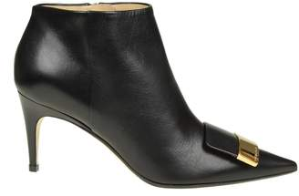 Sergio Rossi Boots Pointed In Black Leather