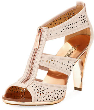 MICHAEL Michael Kors Berkley Perforated T-Strap Zip Sandal