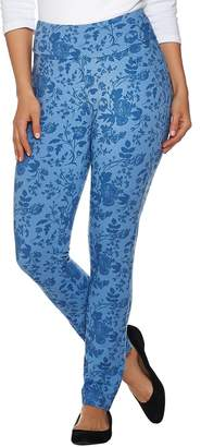 Denim & Co. Active Floral Printed Ankle Pants with Pockets