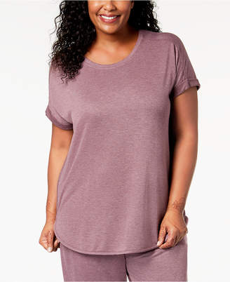 Alfani Plus Size Solid Pajama Top, Created for Macy's