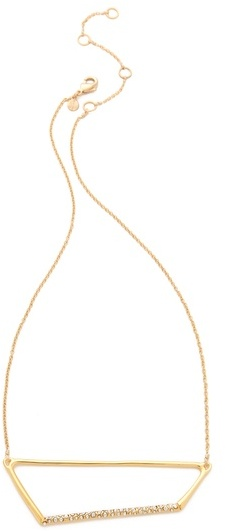 Alexis Bittar New Wave Trapezoid Necklace