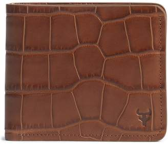 Trask 'Jackson' Slimfold Embossed Leather Wallet
