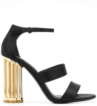Salvatore Ferragamo cage flower heel sandals
