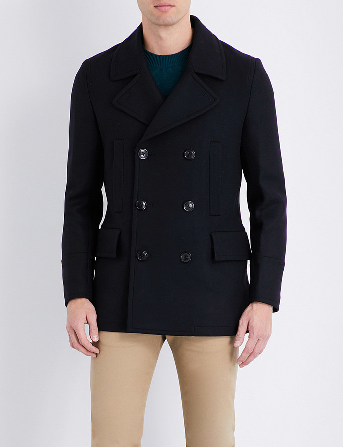 Paul SmithPs By Paul Smith Double-breasted wool-blend peacoat