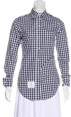 Thom Browne Gingham Button-Up Top
