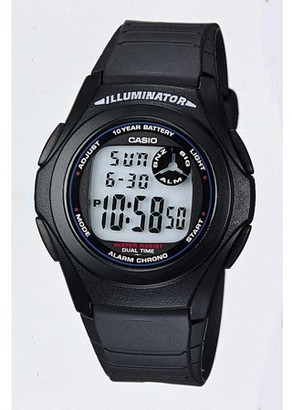 Casio Men's Digital Watch, Black - F200W-1A
