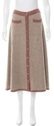 Chanel 2016 Paris-Rome Cashmere Skirt brown 2016 Paris-Rome Cashmere Skirt