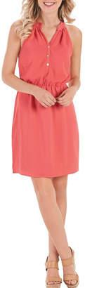 Mud Pie Sleeveless Coral Dress