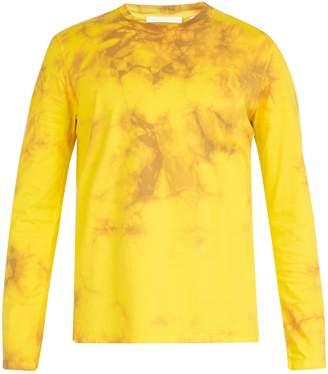 Helmut Lang Tie dye-print long-sleeved cotton T-shirt