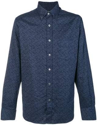 Canali paisley print shirt