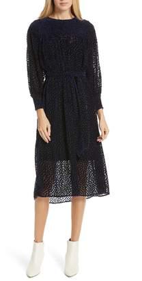 The Great The Merry Velvet Burnout Dress