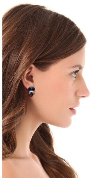 Noir Gem Stud Earrings