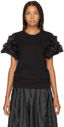 Comme des Garcons Black Ruffled Sleeve T-Shirt