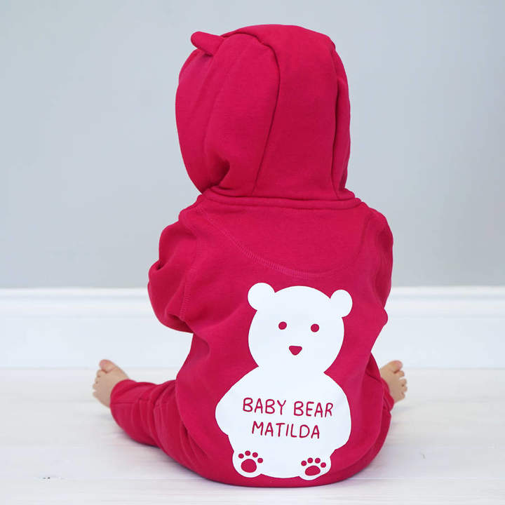 Sparks And Daughters Personalised Bear Baby Onesie