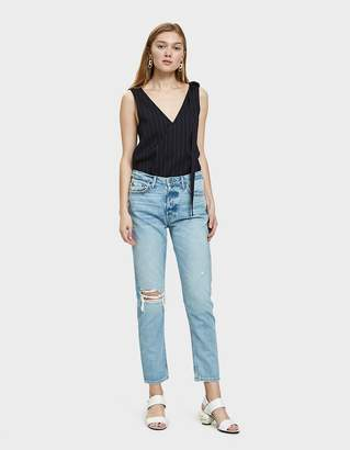GRLFRND Kiara High Rise Distressed Jean in Tripped Up