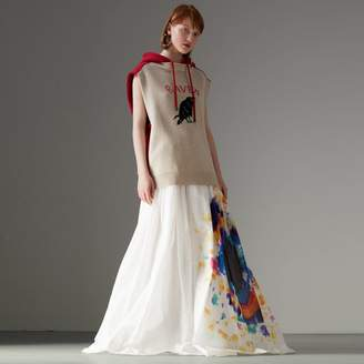Burberry Tie-dye Print Maxi Skirt