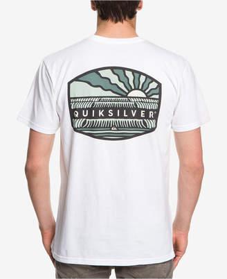 Quiksilver Men Empty Line Up Logo Graphic T-Shirt