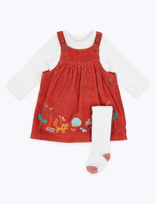 Marks and Spencer 3 Piece Fox Pinafore & Bodysuit outfit